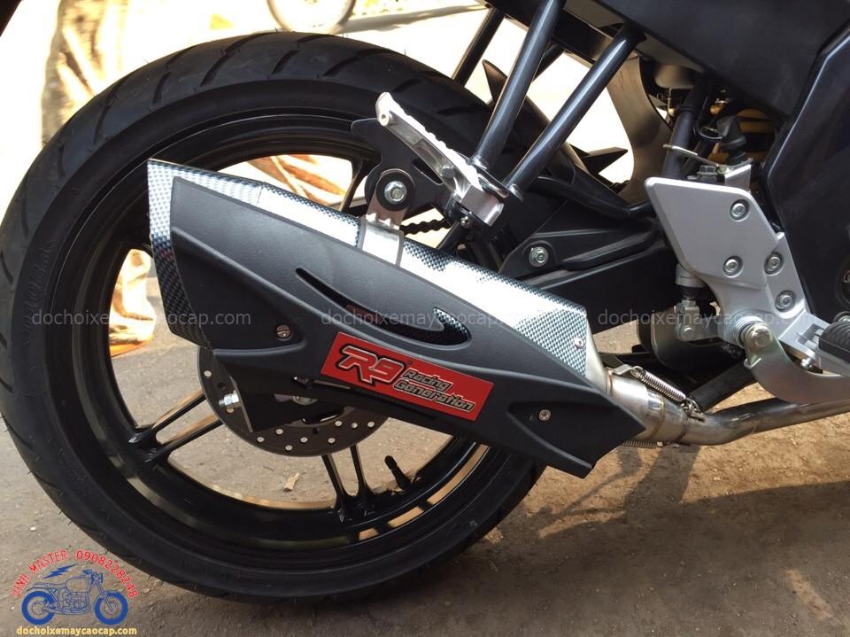Hình ảnh: Cận cảnh pô R9 độ cho xe Exciter cực chuẩn giá rẻ tại Shop Vinh Master TpHCM Q7